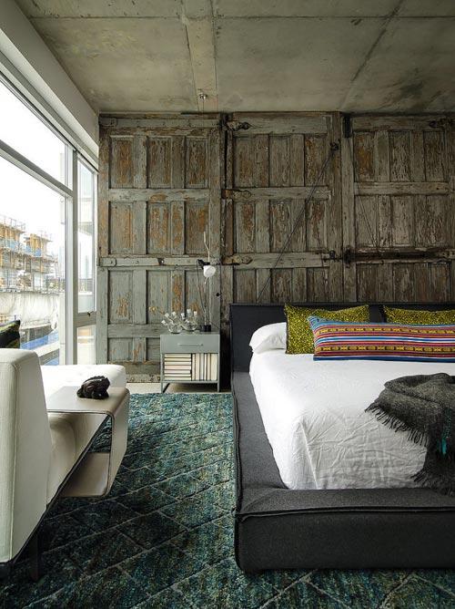Stoere slaapkamer in Chicago