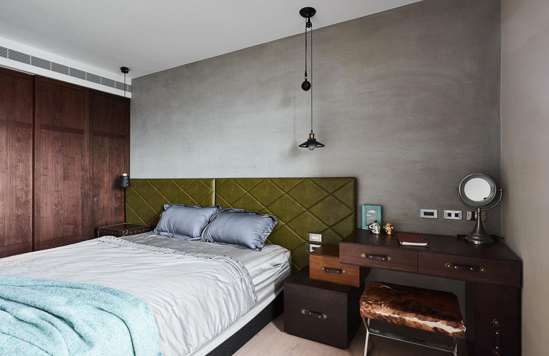 Stoere slaapkamer in klassieke koloniale stijl