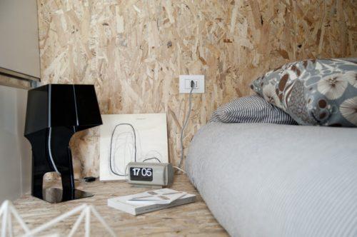 Stoere slaapkamer in vliering