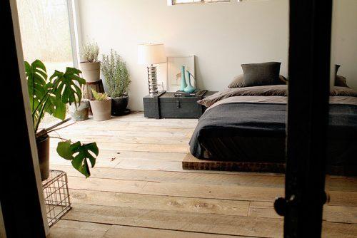 Stoere slaapkamer met loft sfeer