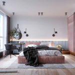 Stoere slaapkamer met roze en blauw