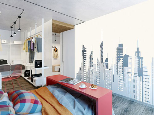 Stoere slaapkamer met mooie kleuren en materialen  Slaapkamer ideeën
