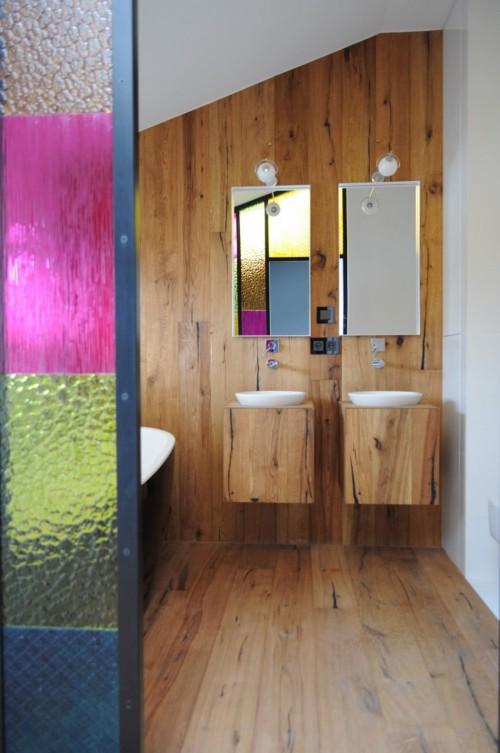 Stoere slaapkamer met open compacte badkamer slaapkamer idee n - Slaapkamer open badkamer ...