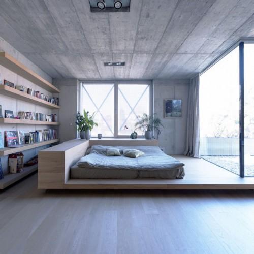 Stoere slaapkamer met patio tuin