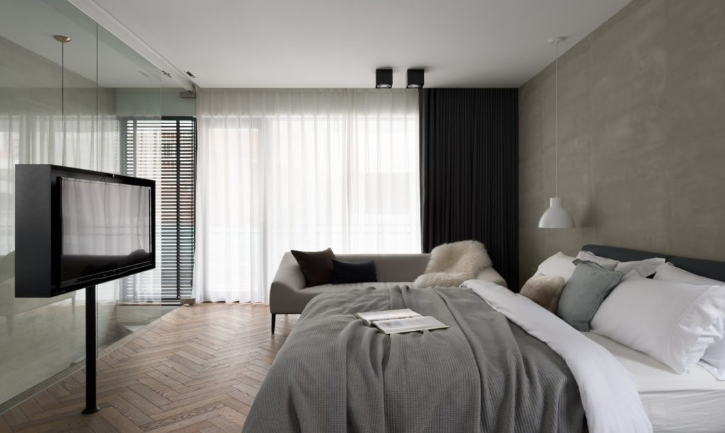 Slaapkamer En Suite : Stoere slaapkamer suite met werkplek en loungehoek slaapkamer ideeën