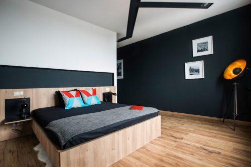 Stoere slaapkamer van Studio Loft uit Boedapast