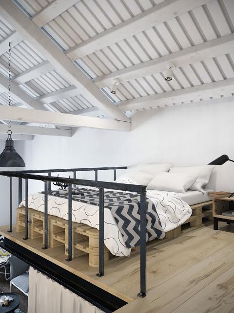 Stoere unieke slaapkamer in miniloft | Slaapkamer ideeën