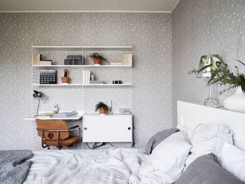 Slaapkamer Behangen Ideeen : Stringkast werkplek in de slaapkamer ...