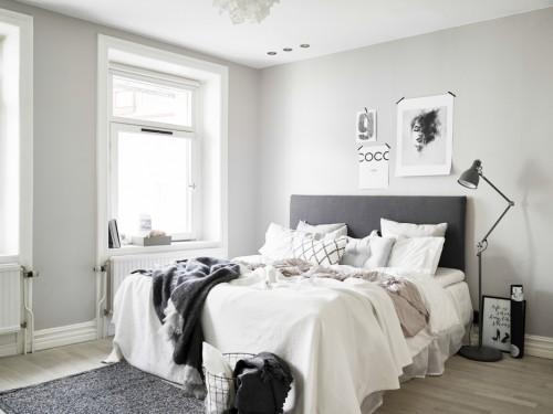 Tinten grijs in de slaapkamer