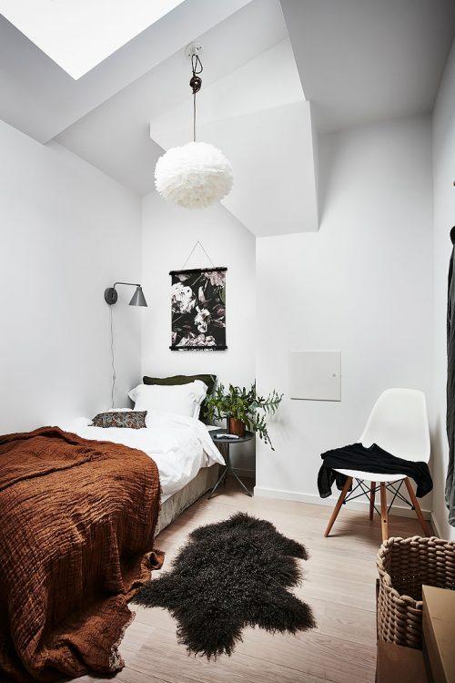 Tóch nog een half open slaapkamer kunnen creëren in dit kleine appartement
