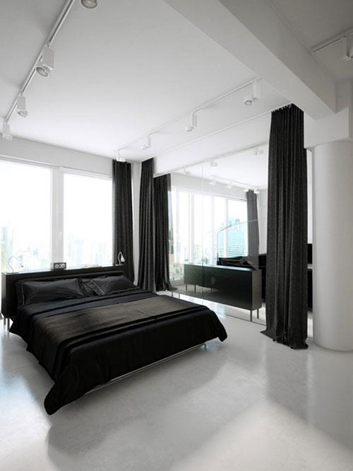 Transparante luxe slaapkamer met badkamer slaapkamer idee n - Moderne badkamer betegelde vloer ...