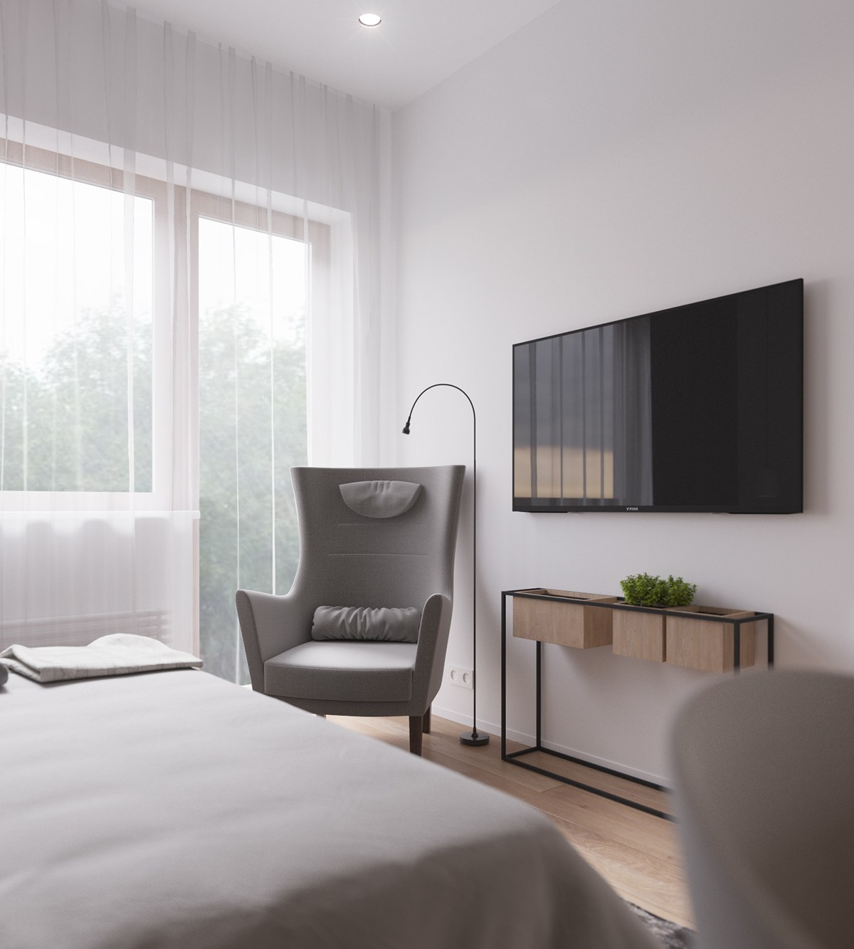 tv-muur-slaapkamer