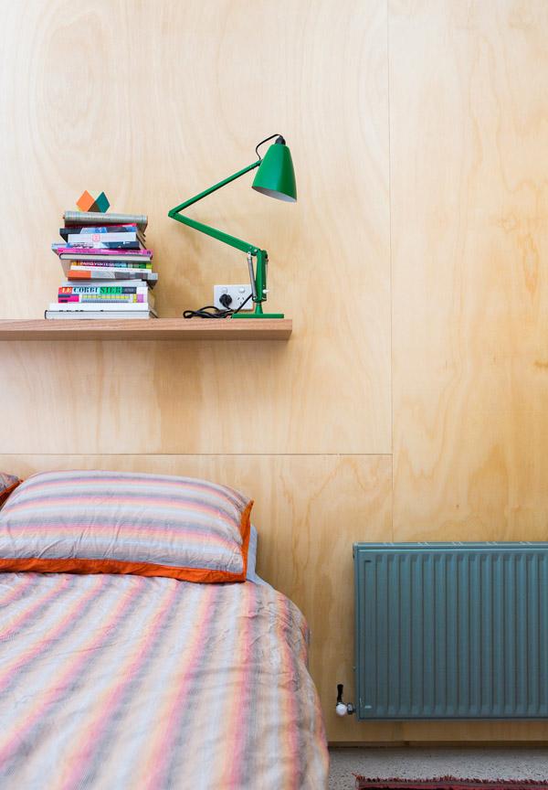 Underlayment slaapkamer van architect Rodney Eggleston