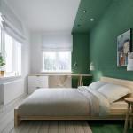 Unieke slaapkamer met kleurgebieden