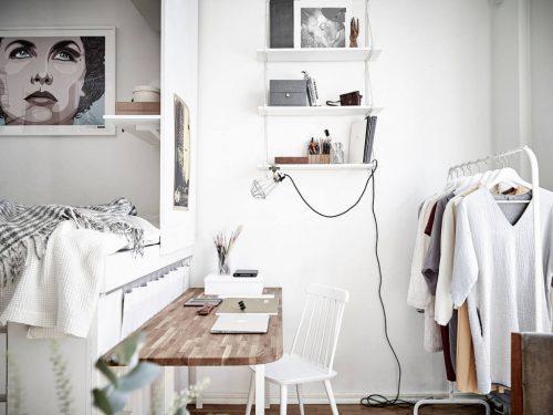 Verhoogd bed voor extra opbergruimte