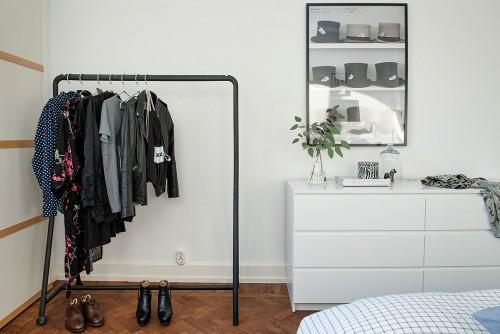 Verkoopstyling Scandinavische slaapkamer