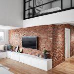 Vide slaapkamer van een modern loft appartement uit Macedonië