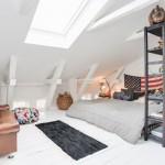 Vintage slaapkamer op zolder