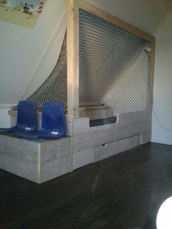 10x voetbalbed in de kinderkamer slaapkamer idee n - Moderne slaapkamer met kleedkamer ...