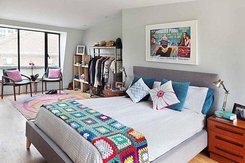 Vrolijke slaapkamer inrichting