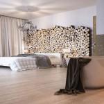 Warme chalet slaapkamer uit Zwitserland