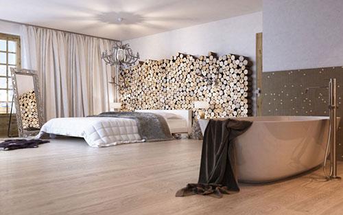 Warme chalet slaapkamer uit zwitserland slaapkamer idee n for Suite parentale zen