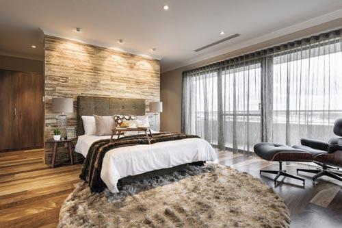 Warme knusse slaapkamer slaapkamer idee n - Deco stijl chalet ...