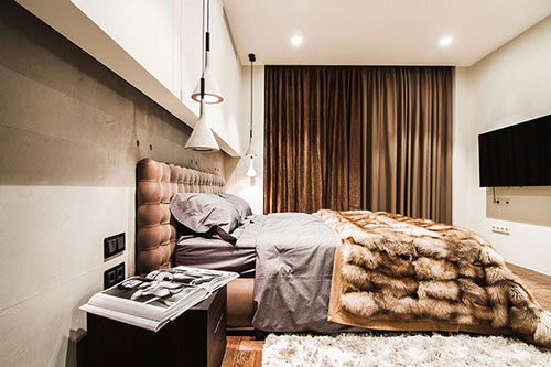 Warme slaapkamer met industrieel tintje | Slaapkamer ideeën