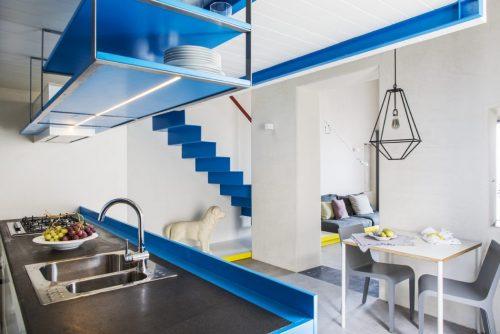Witte blauwe slaapkamer in vide | Slaapkamer ideeën