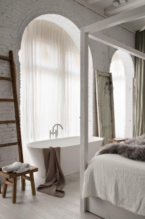 Witte droomslaapkamer uit Barcelona | Slaapkamer ideeën