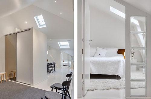 Inspiratie Slaapkamer Schuin Dak : Kleine slaapkamer onder schuin dak ...