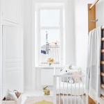 Witte Scandinavische babykamer
