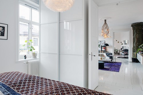 ... Slaapkamer : Witte slaapkamer met Aziatische accessoires Slaapkamer