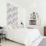 Witte slaapkamer met blauwe kleurtinten