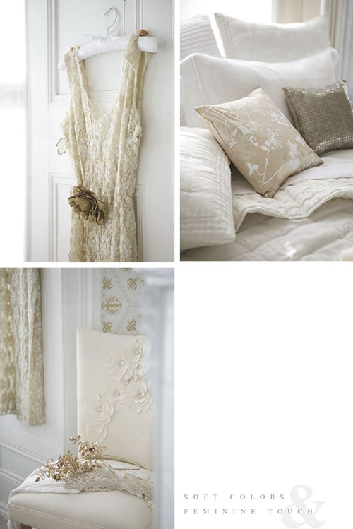 Witte slaapkamer met gouden details