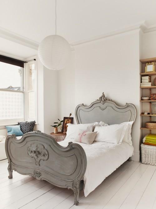 Witte slaapkamer slaapkamer idee n - Romantische witte bed ...