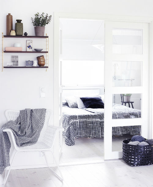 Witte slaapkamer van Riikka