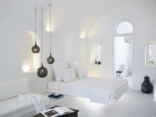Witte slaapkamer in Santorini door Patsios architecten | Slaapkamer ...