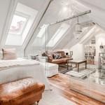Witte transparante slaapkamer