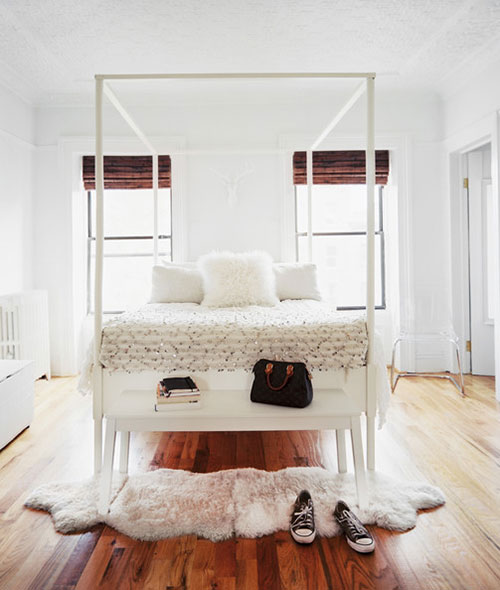 Zachte schapenvacht slaapkamer
