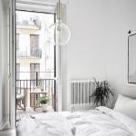 Zen slaapkamer met een poster
