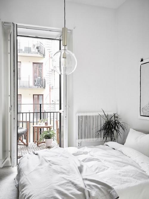 Zen slaapkamer met een poster  Slaapkamer ideeën