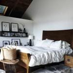 Zolder slaapkamer met vakantiesfeer