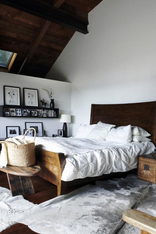 Zolder slaapkamer met vakantiesfeer  Slaapkamer ideeën