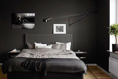 Zwarte slaapkamer inspiratie  Slaapkamer ideeën