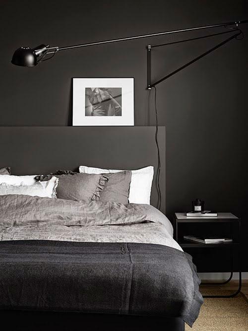 Zwarte slaapkamer inspiratie