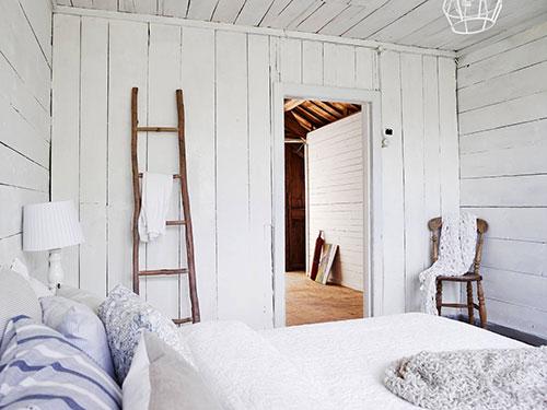 Witte rustieke slaapkamer uit Zweden  Slaapkamer ideeën