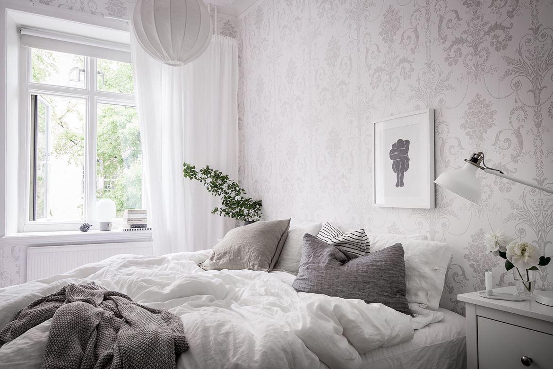 Zweedse slaapkamer met een romantische sfeer slaapkamer idee n - Romantische witte bed ...